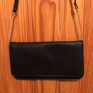 Black Purse with Gold Accents